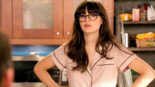 Surprising Zooey Deschanel In New Girl Season 1 Episode 18 Zimbio Short Hairstyles For Black Women Fulllsitofus